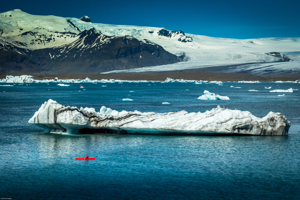 Kayaking with icebergs