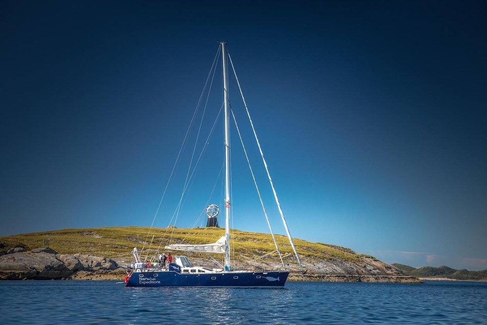 Sailing across the Arctic Circle - expedition sailing onboard Yacht Narwhal