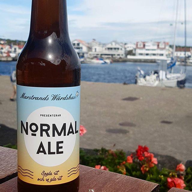 BooM! Hyllning till vår syster Bar Normal - Normal Ale. Att avnjuta hela sommaren!  #marstrandswärdshus #marstrand #barnormal #normalale #wärds #tackchrille