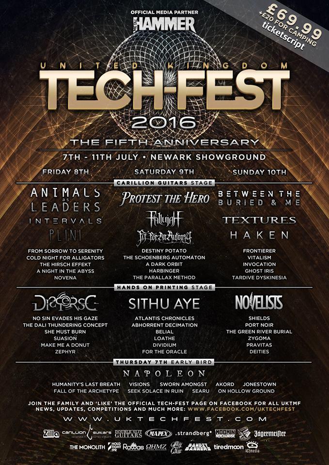 Uk Tech Fest Announces Haken Napoleon Sithu Aye Plus 16 More Bands