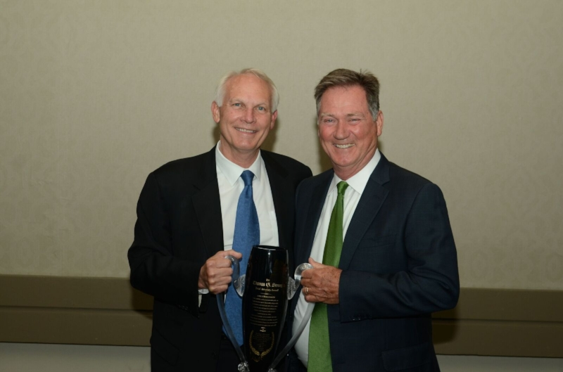 Kent Emison and Bob Langdon this summer at the MATA Annual Convention, when Kent was presented the Thomas Strong Trial Lawyer Award for 2017.
