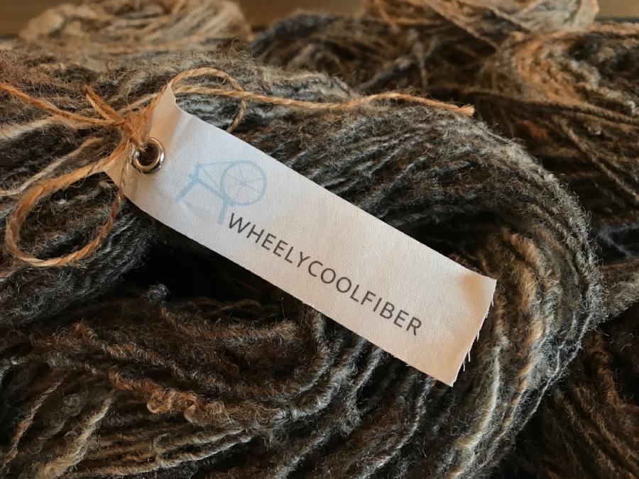 Natural Hand spun Fiber Yarn