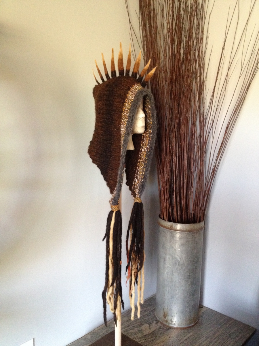 Natural Fiber Spike Dread Hat