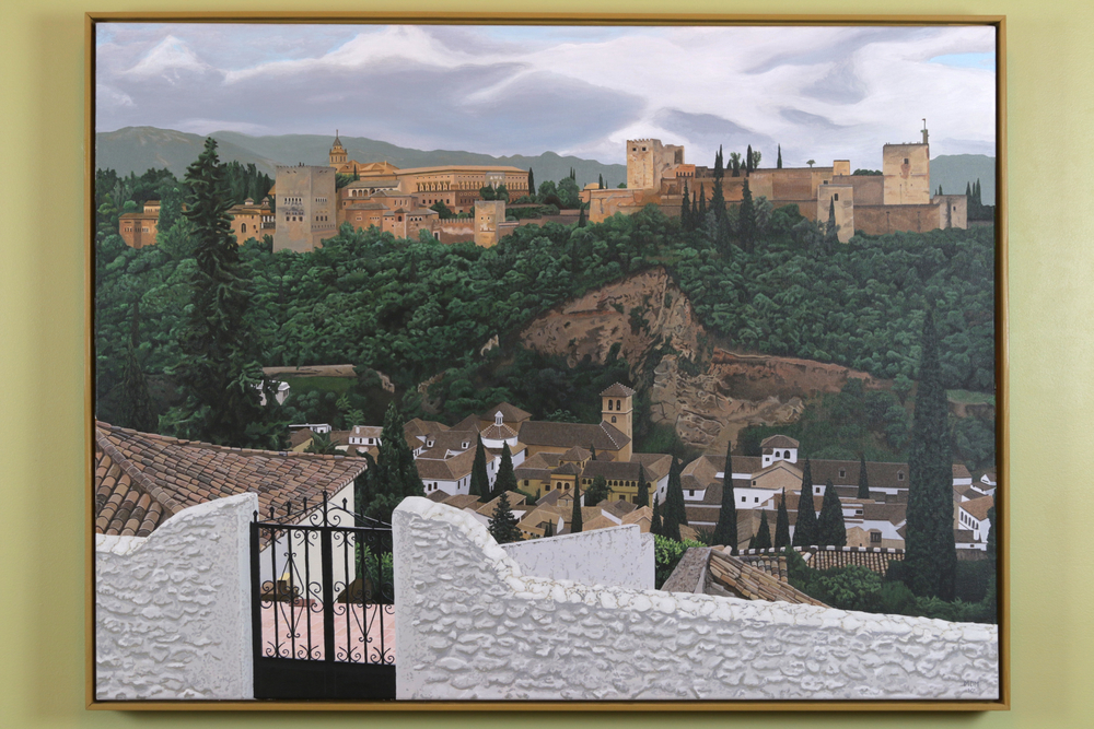 "Alhambra, Grenada.  Acrylic on 40"" x 30"" canvas.  2010  (~570 hours)"