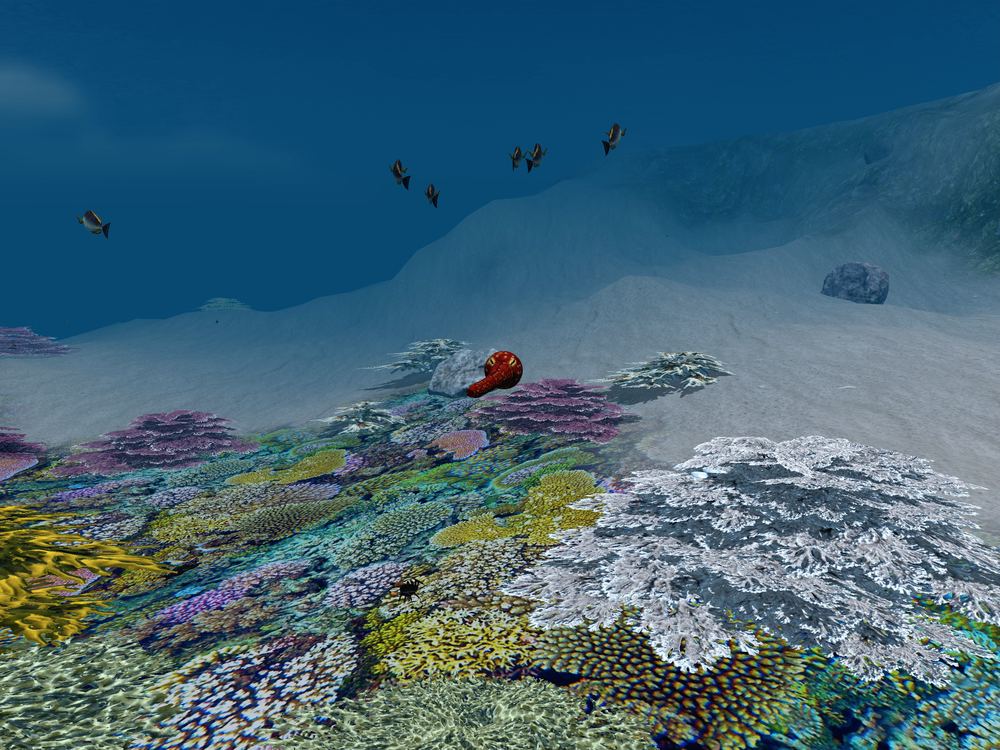 Robocto - Location: Great Barrier Reef (chasing fish over reef) - iPad