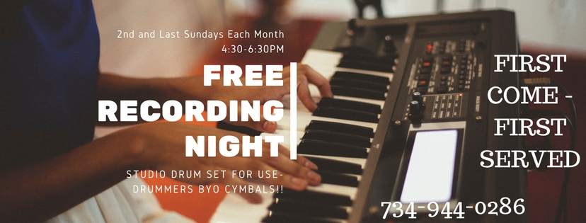 FREE RECORDING NIGHTS EVERY SUNDAY.