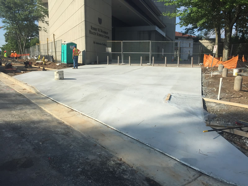 Vehicle parking area at WHSCAB concrete complete