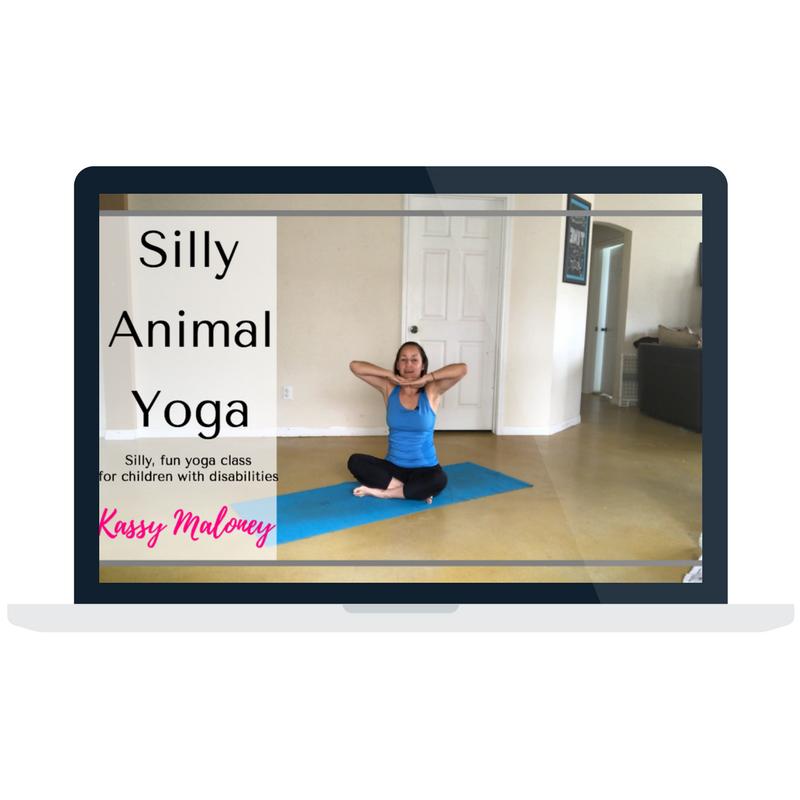 Silly Animal Yoga thumbnail on a laptop.