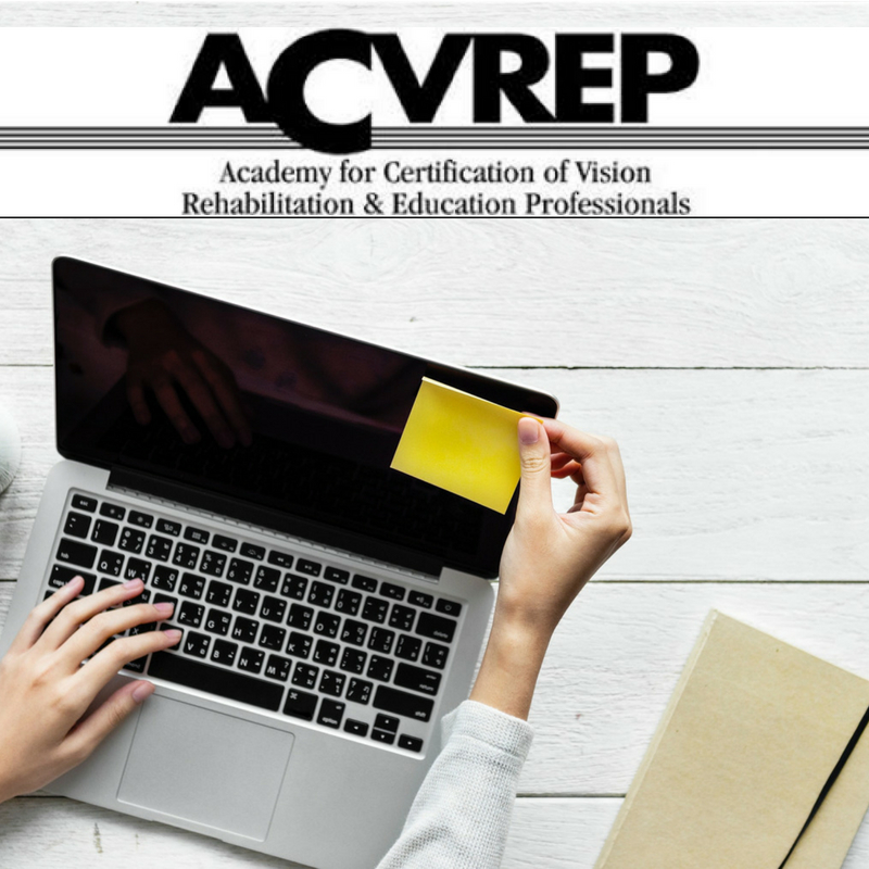computer with ACVREP logo