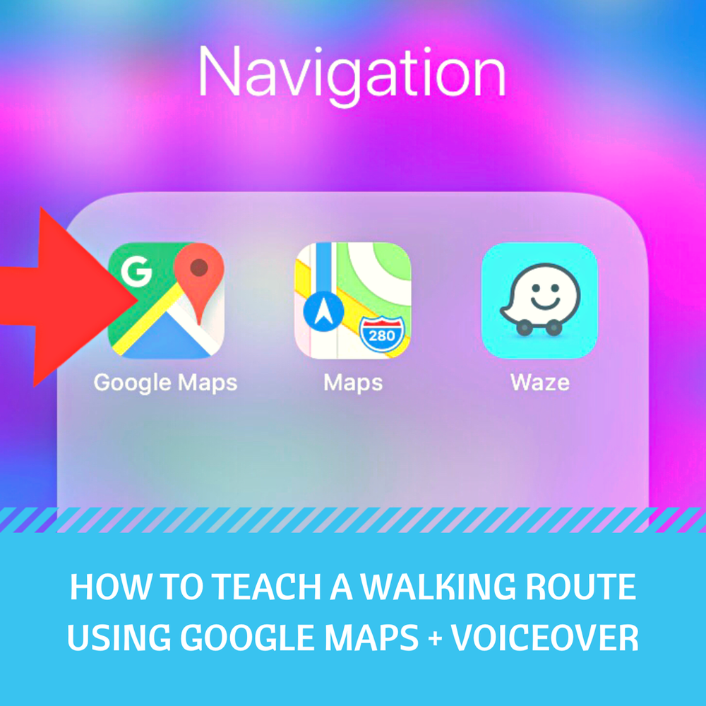 Google maps application image
