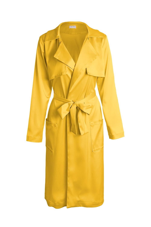 SUNSHINE YELLOW  // 65% silk, 35% crepe.