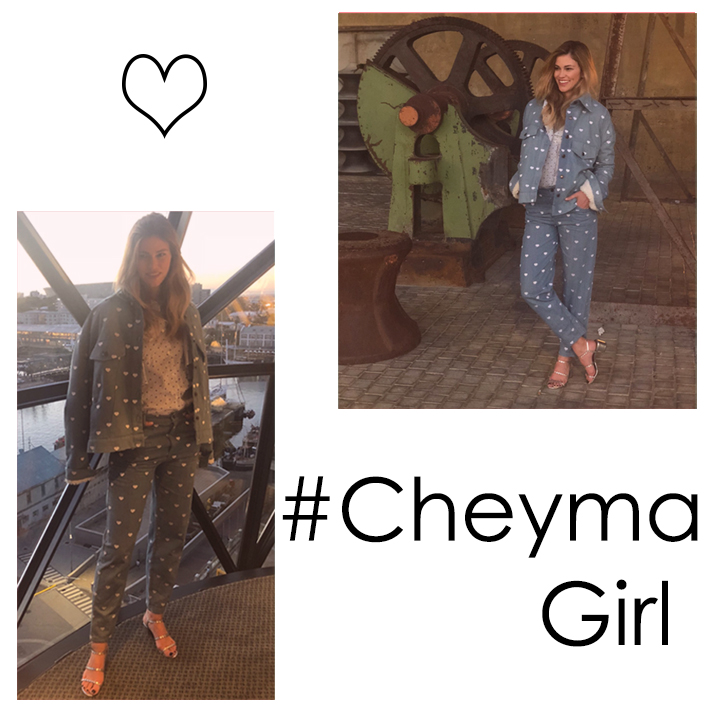 @loreverganiin Cape Town,wearing our Rain of Hearts Jeans, Rain of Hearts Jacket and Cow-Girl Blouse