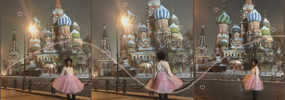 Our lovely   Artistic Director ,   @btscheyma  , the very first   #CheymaGirl  , in her favorite   Tulle & Hearts Tutu  ,in front of  Saint Basil's Cathedral.
