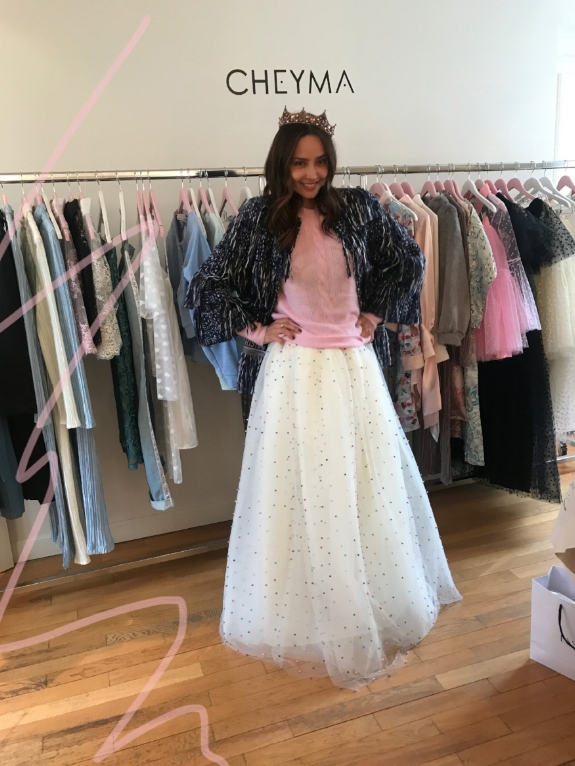 ♡ #   CheymaGirl     @patriciagloriacontreras   wearing our   Maxi Tulle Skirt   from ou  FW 2018/2019 collection:   Imperial Love    ♡