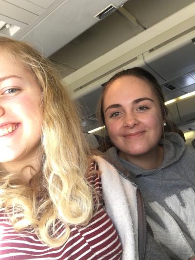 En liten selfie under flyreisen!