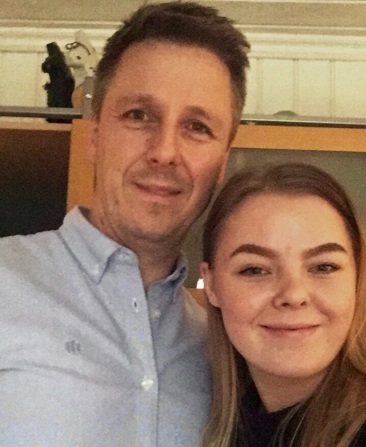 Anniken Mortensen tilbragte en hel dag sammen med pappa Arild Mortensen, som er eiendomsdirektør i Skolt Eiendom. - Veldig interessant, er Annikens konklusjon.