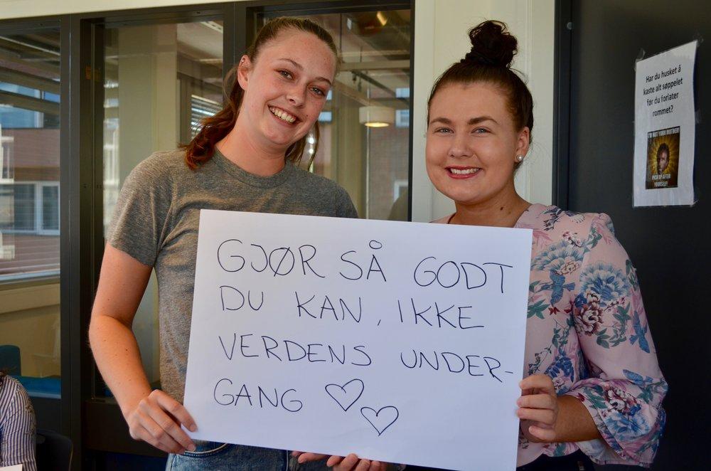 - Gjør så godt du kan, oppfordrer Kristine Klipper (t.v) og Stine Jentoft