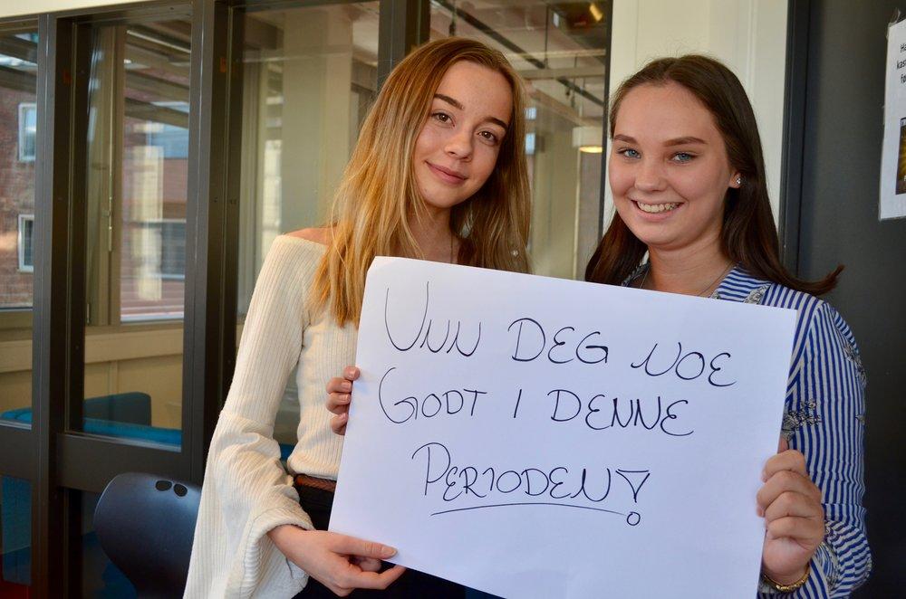 Elise Bjørnland (t.v) og Caroline Andersen med en klar oppfordring.