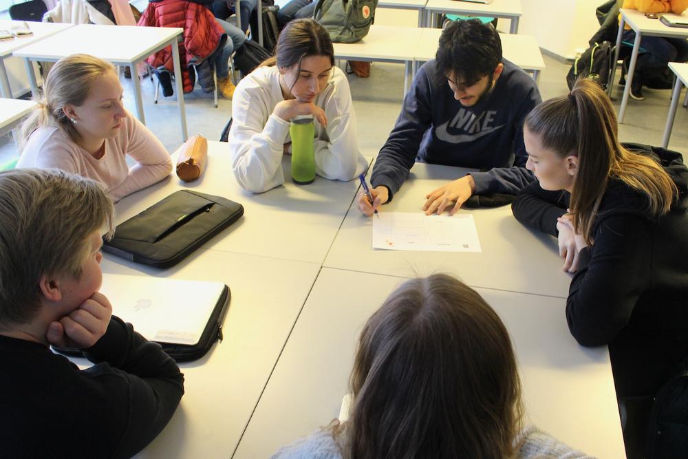 Elevene lærte ulike teknikker for å jobbe kreativt med ideer.