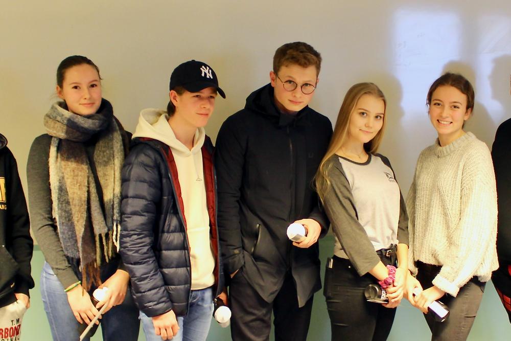 Gruppe 6 f.v.: Guro, Herman, Victor, Cathinka og Emma