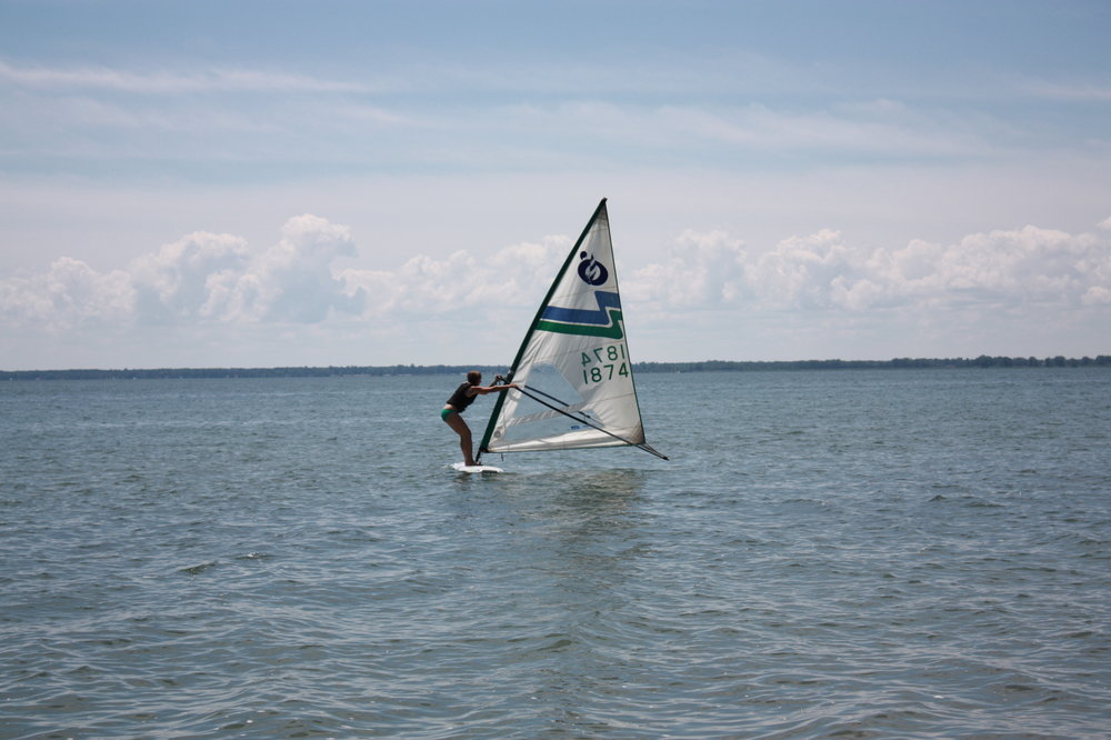 My first attempt at windsurfing!