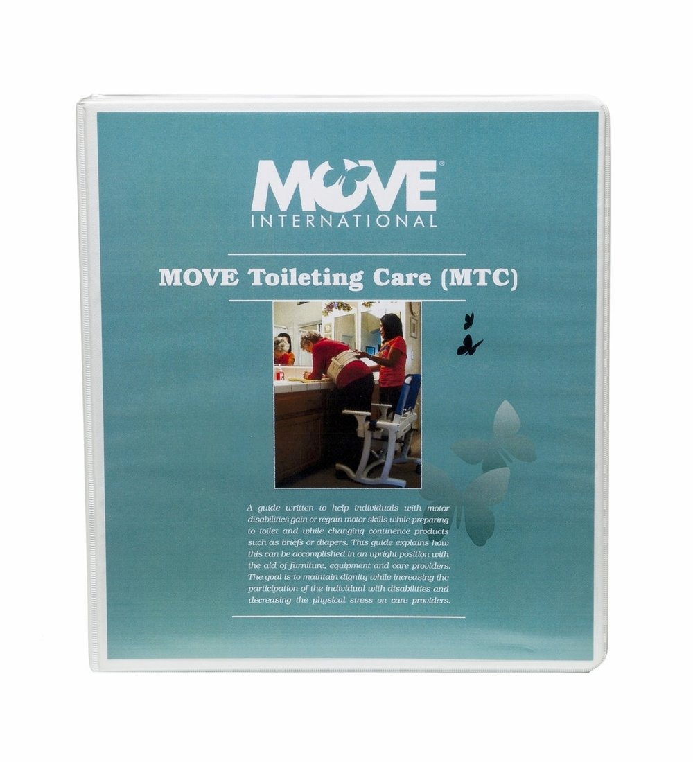 MOVE Toileting Care (MTC)    $50.00   MTC (MOVE Toileting Care) is a program that teaches upright toileting in the home, residential facility, care facility or public restrooms. It is a process that gives dignity to a daily routine regardless of age or disability.   Upright toileting can be done with the use of household furniture, bathroom vanity, grab bars or the RIfton Support Station.