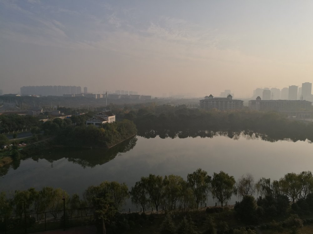 View from my hotel in the Nanchang University campus