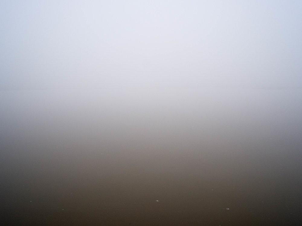 Fog at Baishahu. Good thing I'm not a photographer.