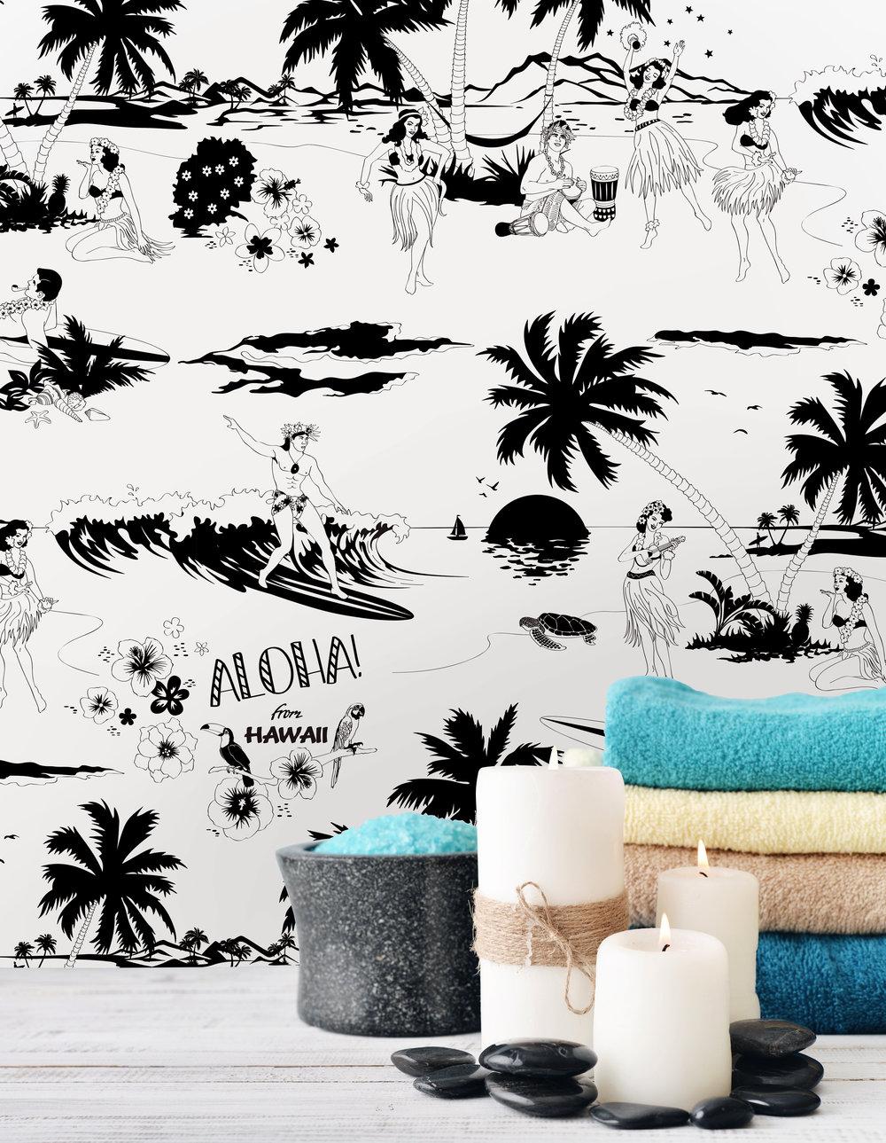 Dupenny | Aloha! Black and White