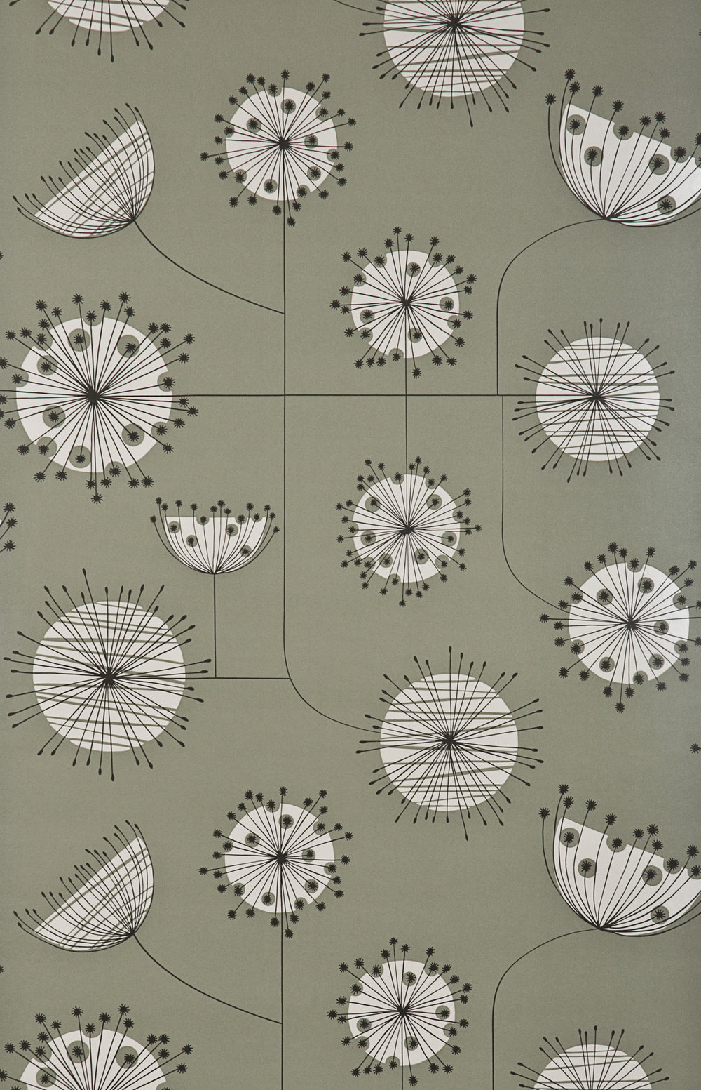 Miss Prints | Dandelion Mobile French Grey with White