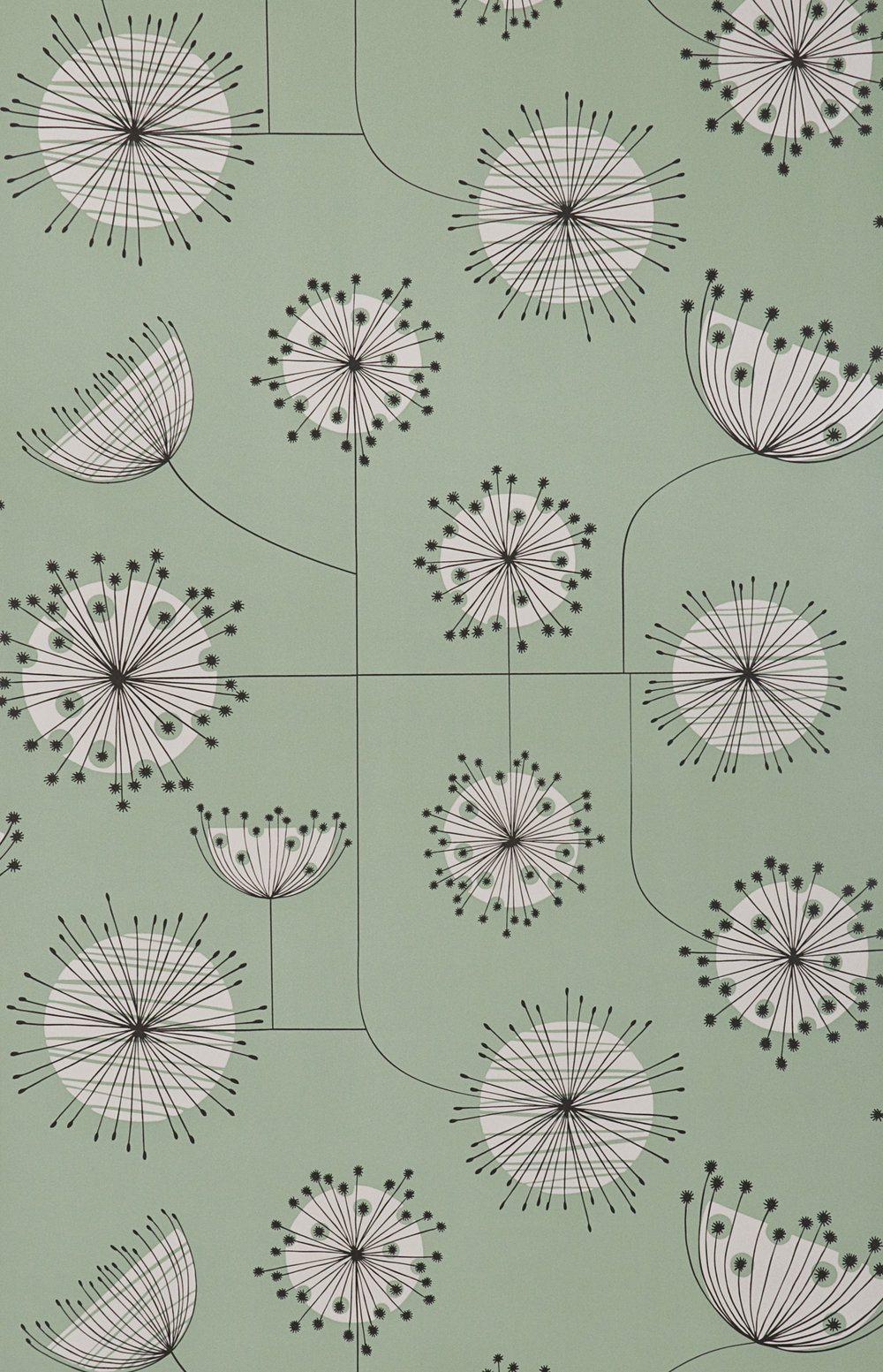 Miss Prints | Dandelion Mobile Mist Green with White