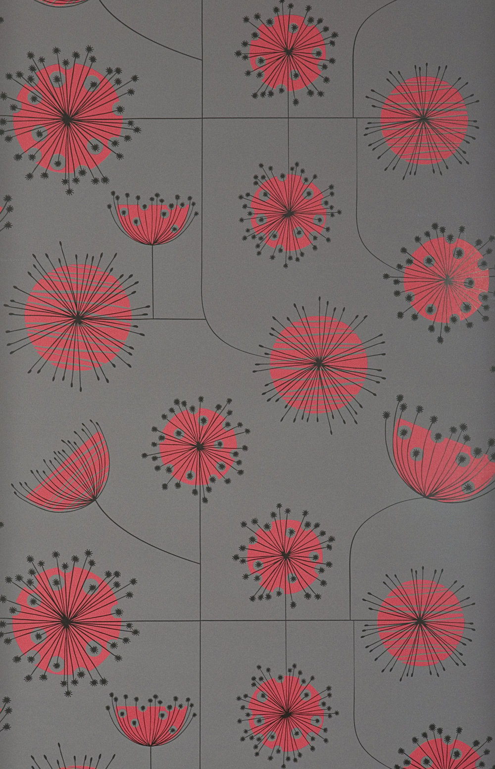 Miss Prints | Dandelion Mobile Storm with Coral