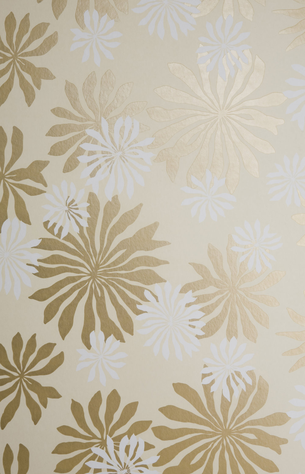 Miss Prints | Fleur Cream with Gold