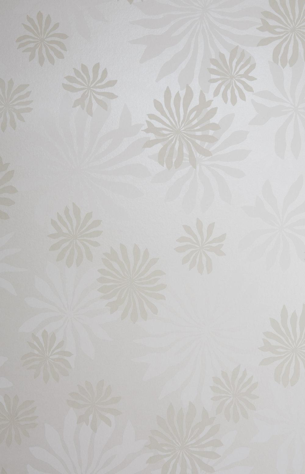 Miss Prints | Fleur White with Stone