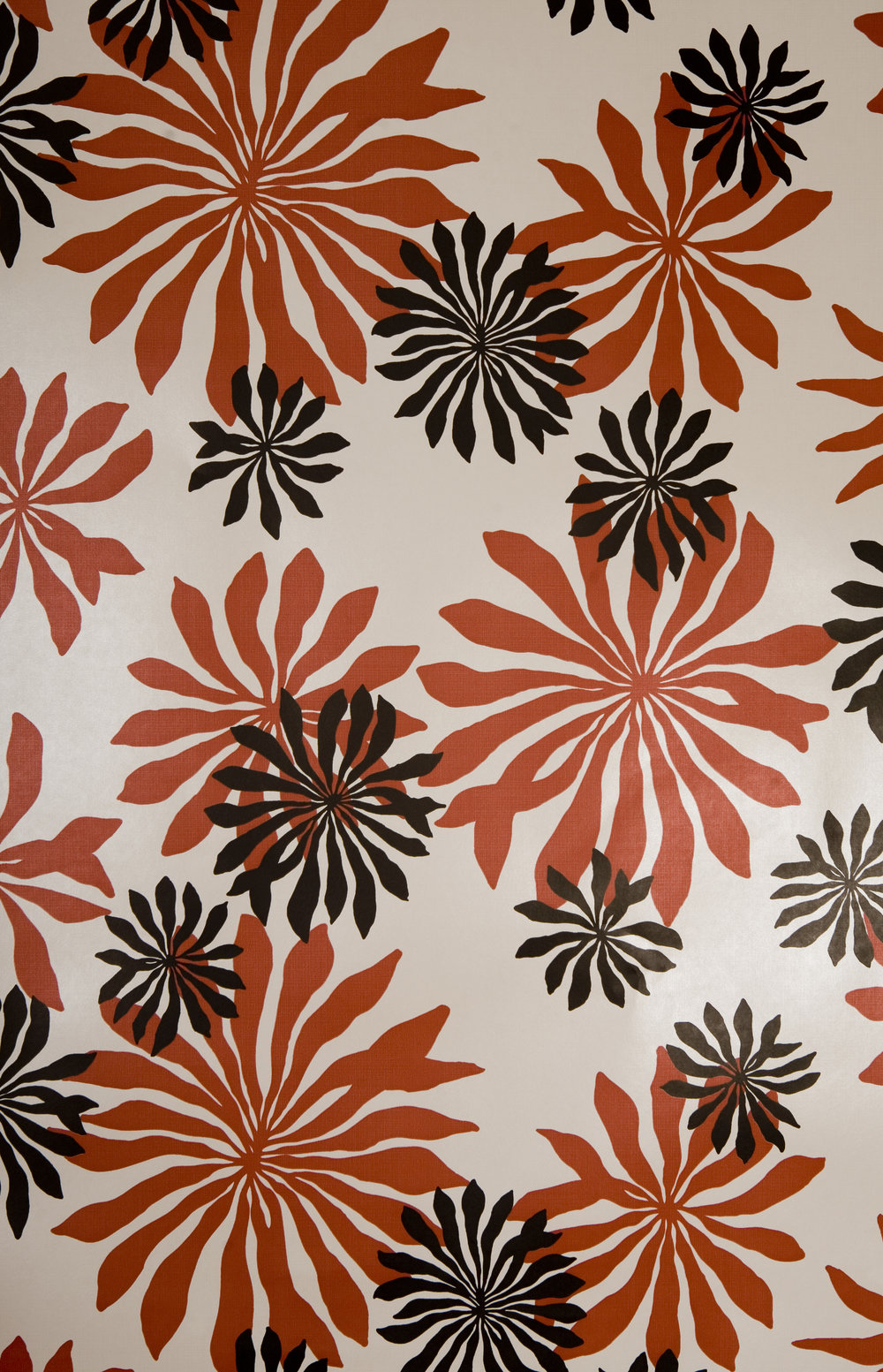 Miss Prints | Fleur Soft-White with Red