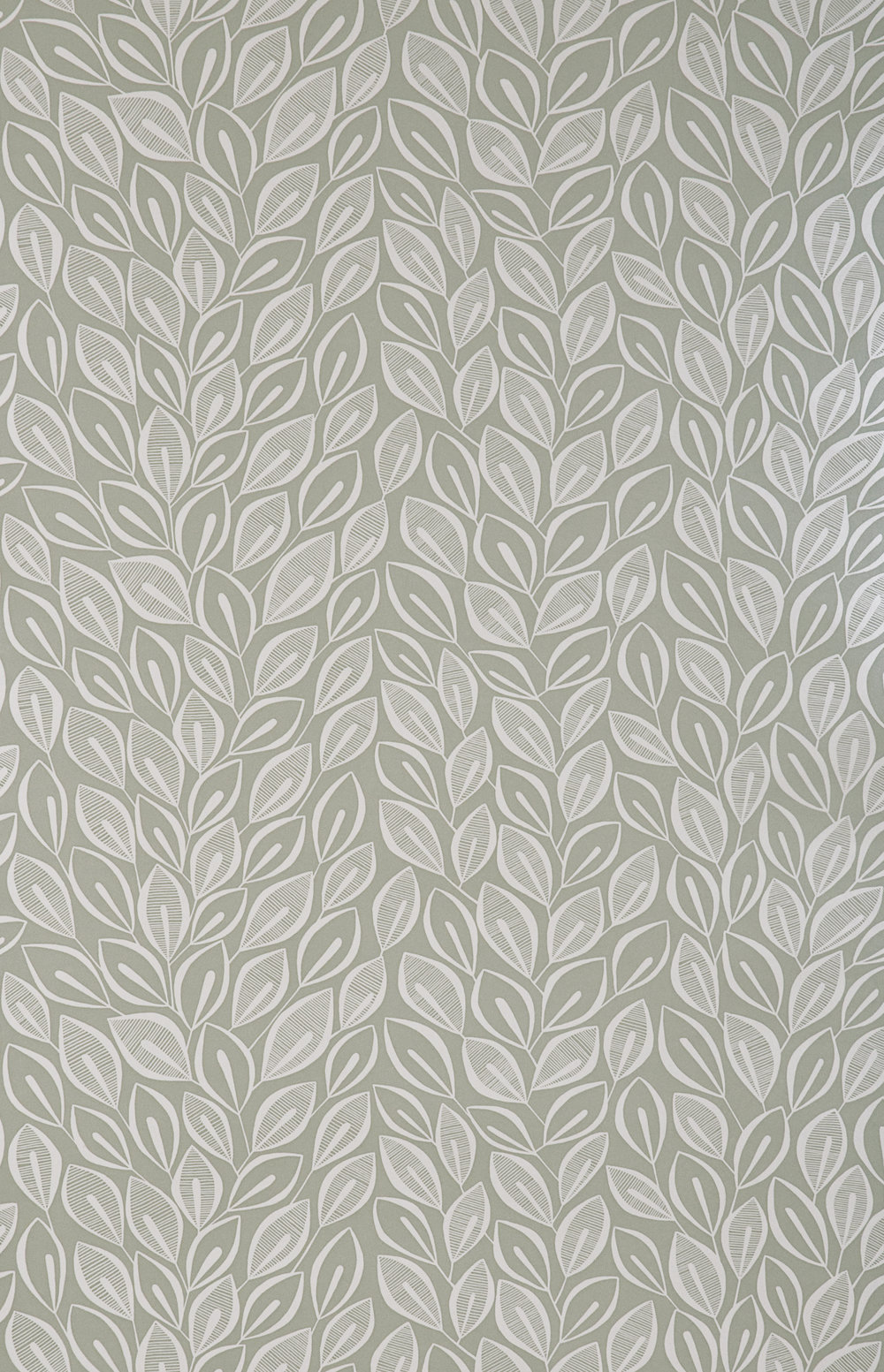 Miss Prints | Leaves Dove Grey with White