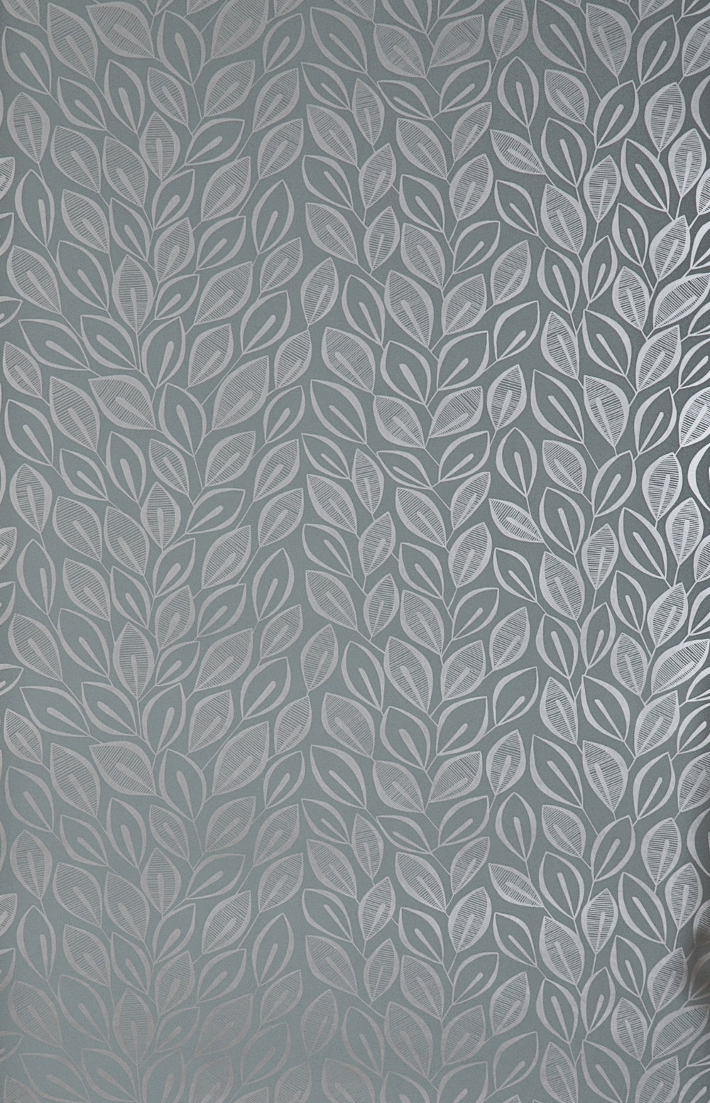Miss Prints | Leaves Graphite with Silver