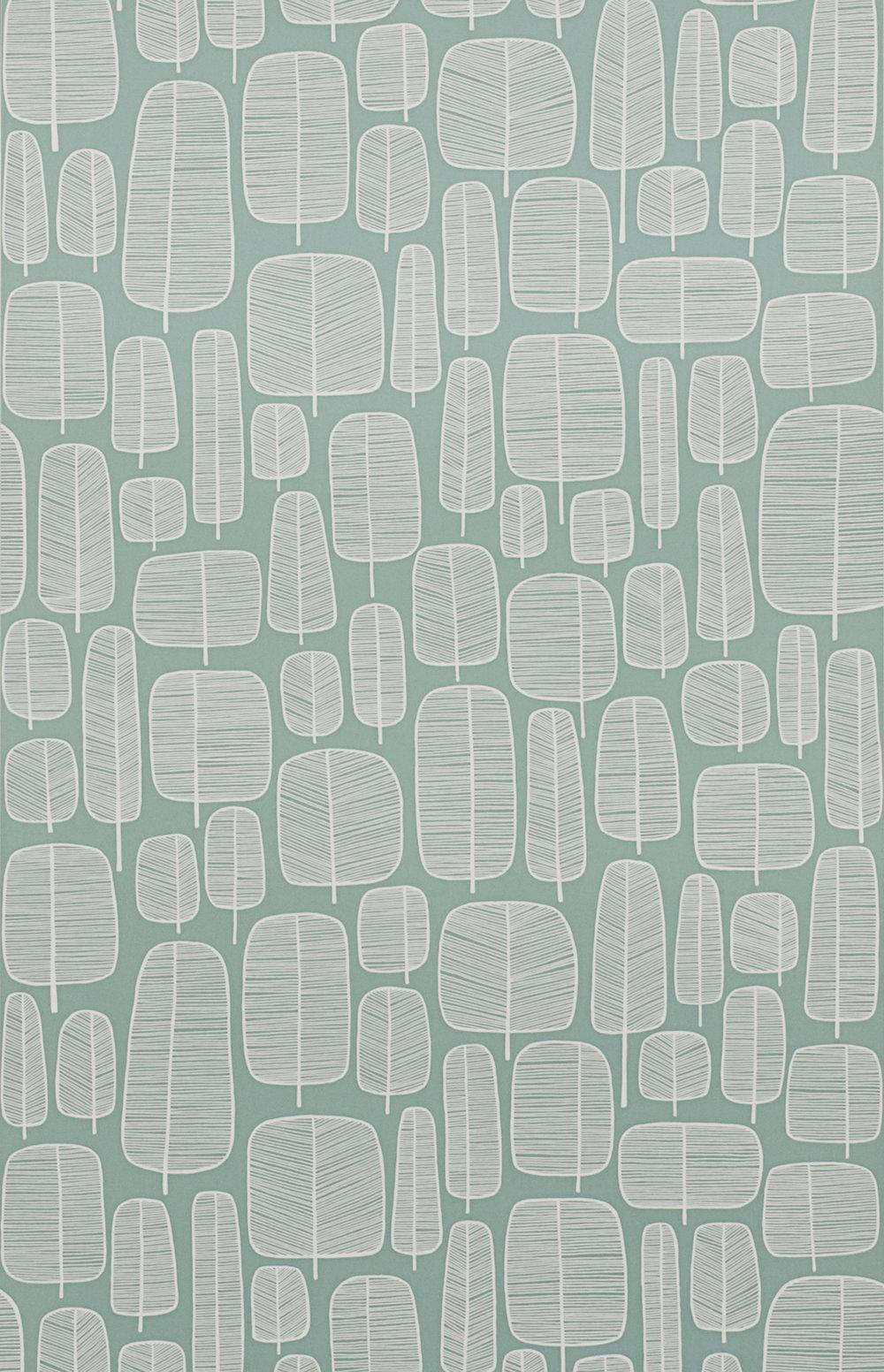 Miss Prints | Little Trees Aquamarine