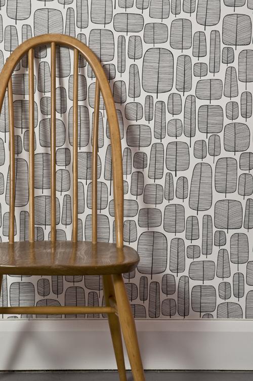 Miss Prints | Little Trees Monochrome Room