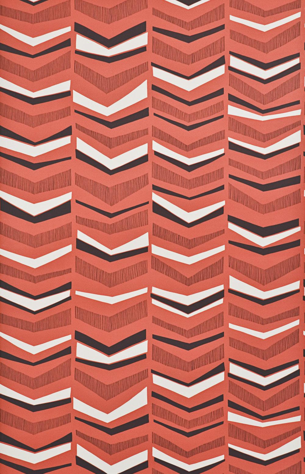 Miss Prints | Chevron Berry