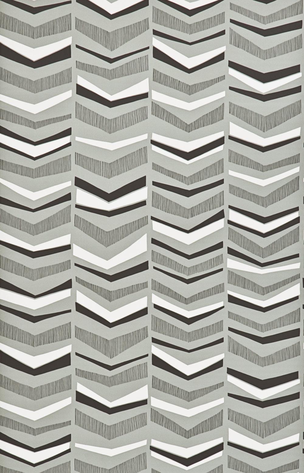 Miss Prints | Chevron Greystone
