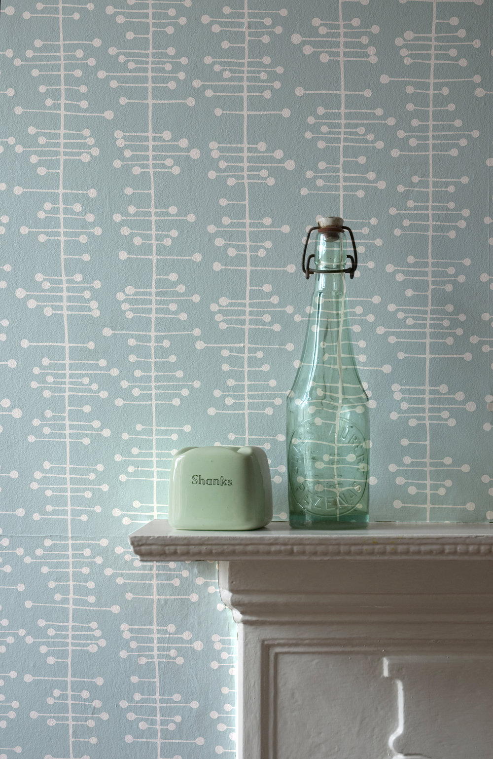 Miss Prints | Muscat Small Duck Egg Blue Room