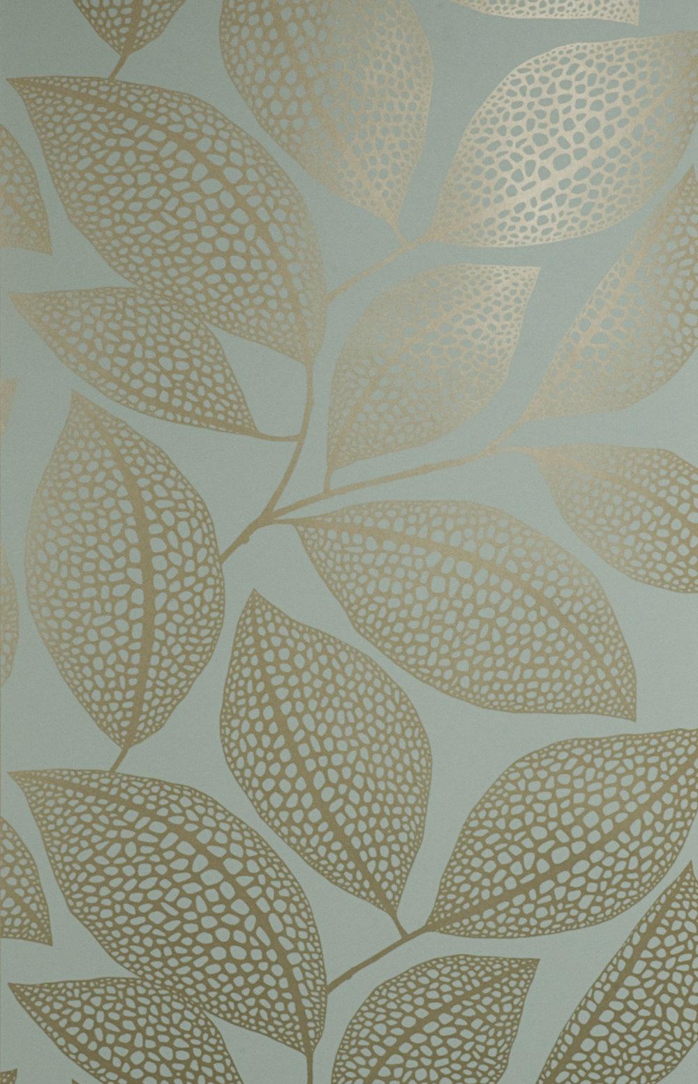Miss Prints | Pebble Leaf Verdigris