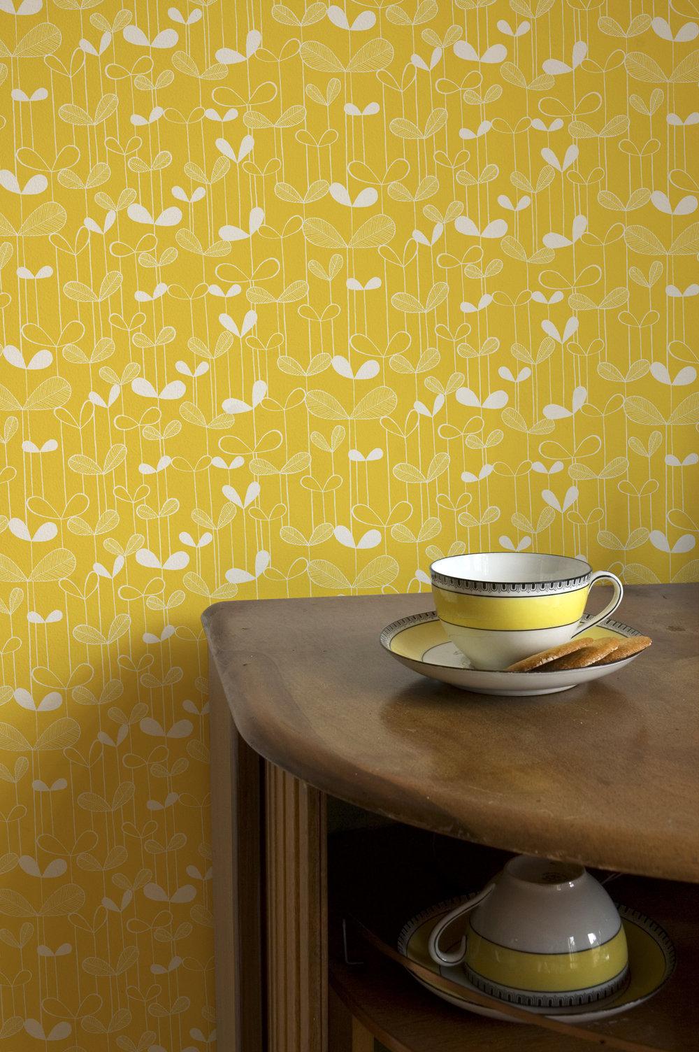 Miss Prints | Sapling Sunflower Yellow Room