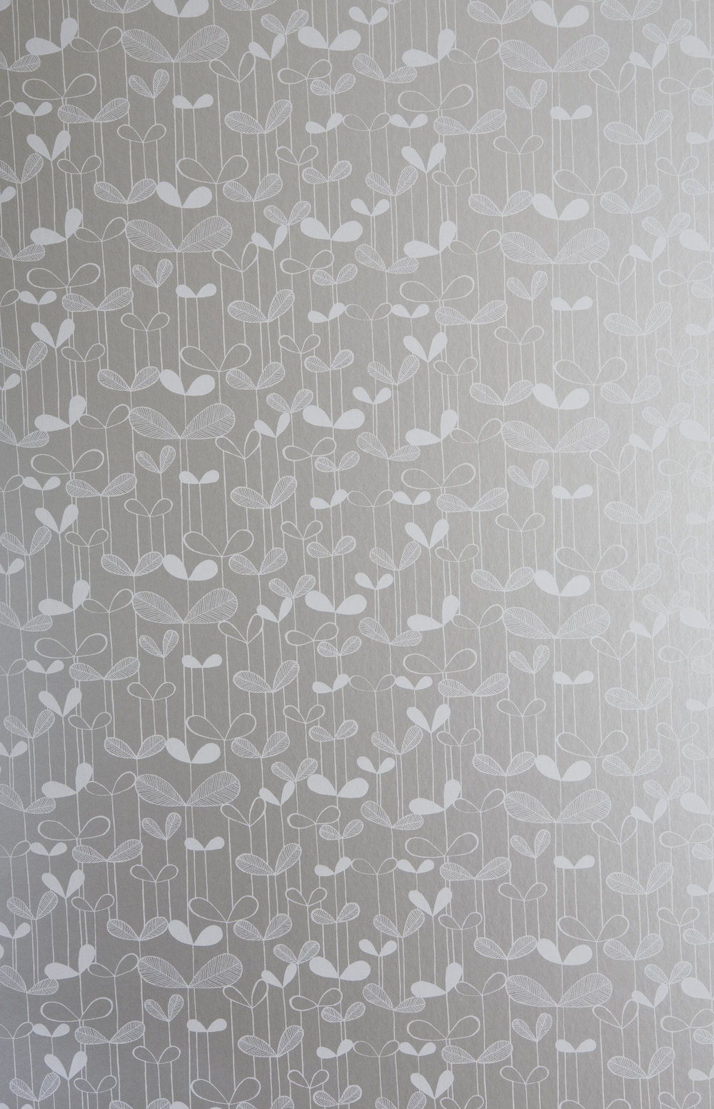 Miss Prints | Saplings Silver with White