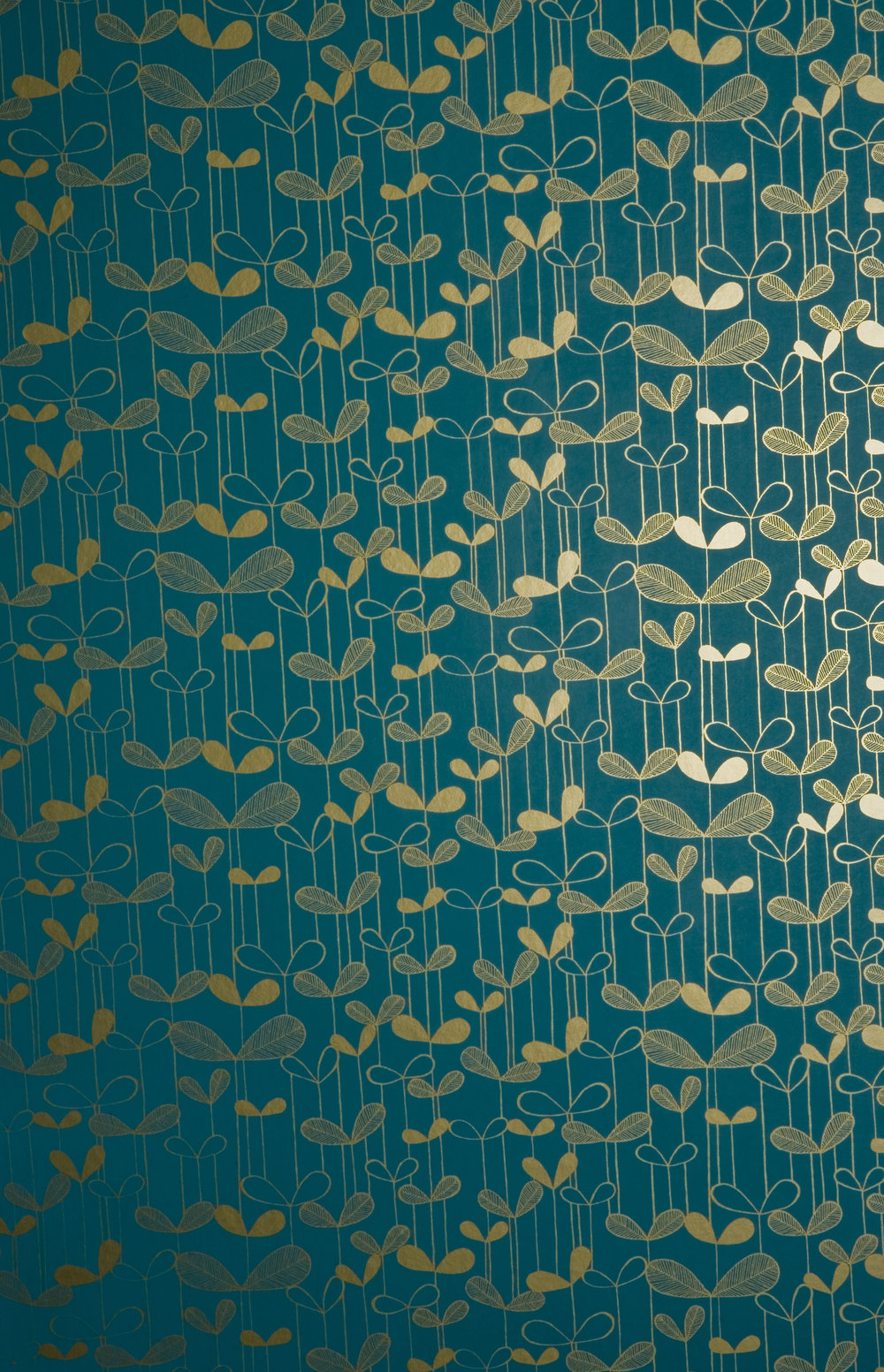 Miss Prints | Saplings Turquoise with Gold
