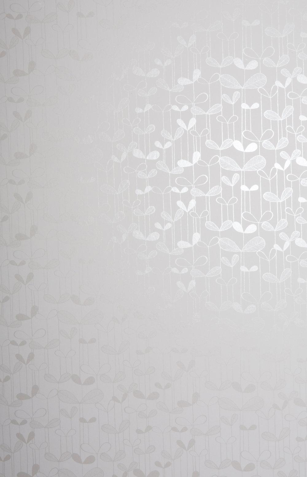 Miss Prints | Saplings White with white