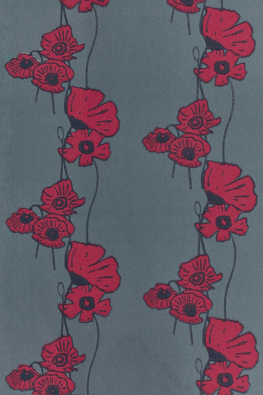 Barneby Gates - Poppy Fields - Red on Gunmetal - Flat 3.jpg