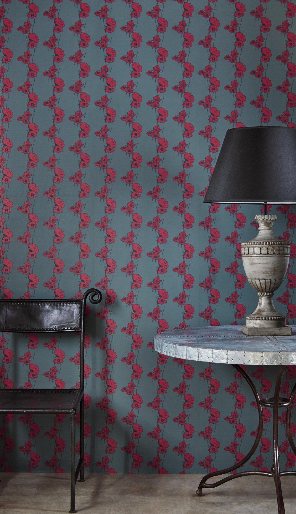 Barneby Gates - Poppy Fields - Red on Gunmetal - Set shot.jpg