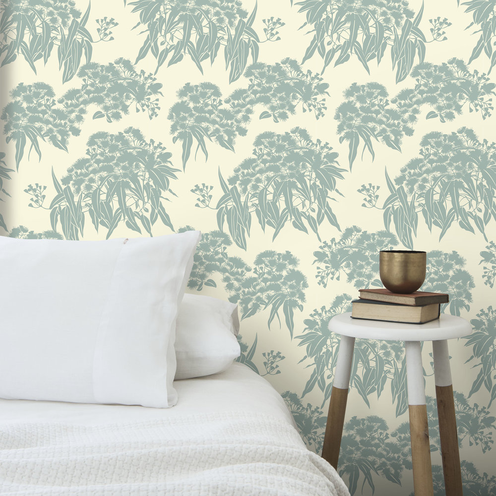 WALLPAPER FICI EUCALYPT W WHT PILLOW MIDSHOT .jpg